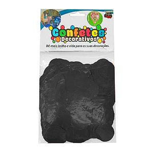 Confete Redondo 25g - Preto Dupla Face - Rizzo Embalagens
