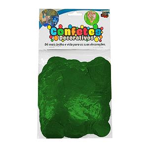 Confete Redondo Metalizado 25g - Verde Dupla Face - Rizzo Embalagens