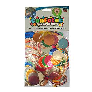 Confete Redondo Metalizado 25g - Sortido Dupla Face - Rizzo Embalagens
