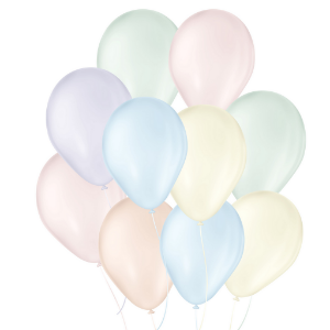 Balão de Festa Látex Candy Colors - Sortido  - 25 Unidades - São Roque - Rizzo Embalagens