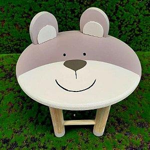 Decoração MDF Banco com Orelhas Urso - 01 unidade - Mara Móveis - Rizzo