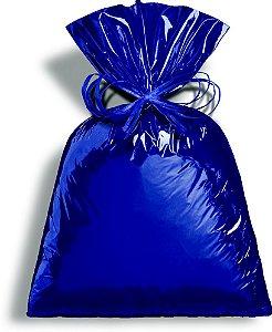 Saco Metalizado Azul Intenso 35x54cm - 50 unidades - Cromus - Rizzo Embalagens