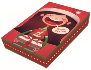 Caixa Divertida Natal Menina 12 Doces - 03 unidades - Erika Melkot - Rizzo Embalagens