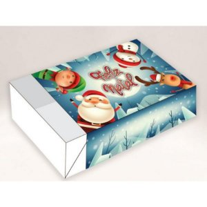 Caixa Divertida Natal Self. 6 doces com 10 un. Erika Melkot Rizzo Embalagens