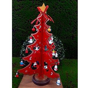 Árvore de Natal de madeira Grande - 29cm - 1 unidade - Global Master - Rizzo