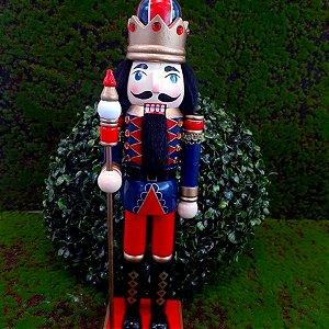 Boneco Soldado Quebra Nozes de Madeira EN012-12 - 39cm - 1 unidade - Global Master - Rizzo