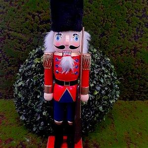 Boneco Soldado Quebra Nozes de Madeira EN035-27 - 36cm - 1 unidade - Global Master - Rizzo