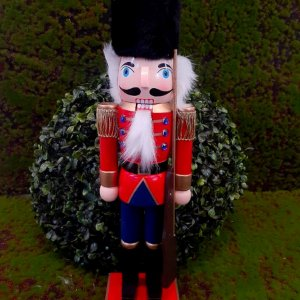 Boneco Soldado Quebra Nozes de Madeira EN012-19 - 36cm - 1 unidade - Global Master - Rizzo