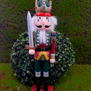 Boneco Soldado Quebra Nozes de Madeira EN031-25 - 37cm - 1 unidade - Global Master - Rizzo