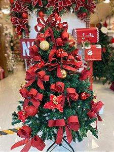 Kit Decoração Vermelho para Árvore de Natal 150cm - 01 unidade - Cromus Natal - Rizzo Embalagens
