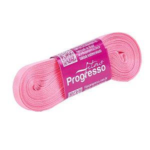 Fita Gorgurão Progresso 7mm nº1 - 10m Cor 009 Rosa Pétala - 01 unidade - Rizzo Embalagens