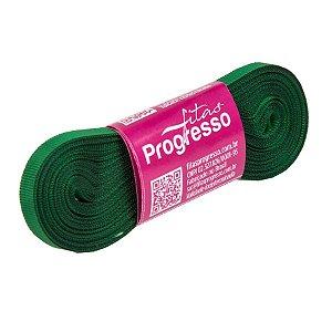 Fita Gorgurão Progresso 7mm nº1 - 10m Cor 217 Verde Bandeira - 01 unidade - Rizzo Embalagens