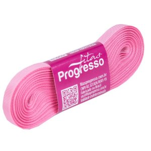 Fita Gorgurão Progresso 7mm nº1 - 10m Cor 240 Rosa Escuro - 01 unidade - Rizzo Embalagens