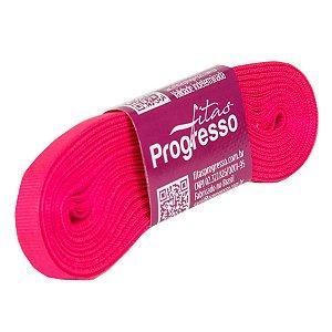 Fita Gorgurão Progresso 7mm nº1 - 10m Cor 279 Rosa Cítrico - 01 unidade - Rizzo Embalagens