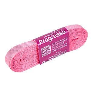 Fita Gorgurão Progresso 11mm nº2 - 10m Cor 009 Rosa Pétala - 01 unidade - Rizzo Embalagens
