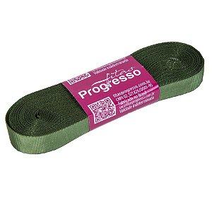 Fita Gorgurão Progresso 11mm nº2 - 10m Cor 249 Verde Militar - 01 unidade - Rizzo Embalagens