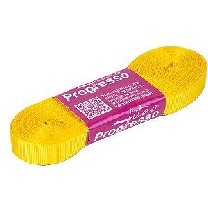 Fita Gorgurão Progresso 11mm nº2 - 10m Cor 763 Amarelo Gema - 01 unidade - Rizzo Embalagens
