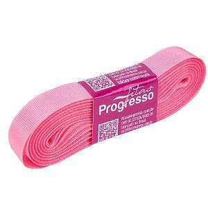 Fita Gorgurão Progresso 15mm nº3 - 10m Cor 009 Rosa Pétala - 01 unidade - Rizzo Embalagens