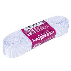 Fita Gorgurão Progresso 15mm nº3 - 10m Cor 201 Branco - 01 unidade - Rizzo Embalagens