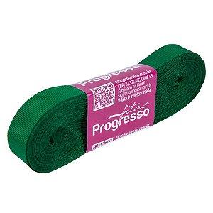 Fita Gorgurão Progresso 15mm nº3 - 10m Cor 217 Verde Bandeira - 01 unidade - Rizzo Embalagens