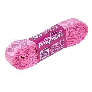 Fita Gorgurão Progresso 15mm nº3 - 10m Cor 240 Rosa Escuro - 01 unidade - Rizzo Embalagens