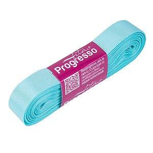Fita Gorgurão Progresso 15mm nº3 - 10m Cor 247 Azul Tiffany - 01 unidade - Rizzo Embalagens
