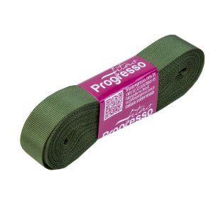 Fita Gorgurão Progresso 15mm nº3 - 10m Cor 249 Verde Militar - 01 unidade - Rizzo Embalagens