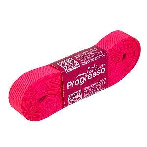 Fita Gorgurão Progresso 15mm nº3 - 10m Cor 279 Rosa Cítrico - 01 unidade - Rizzo Embalagens