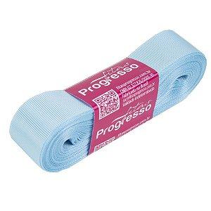Fita Gorgurão Progresso 22mm nº5 - 10m Cor 212 Azul Bebê - 01 unidade - Rizzo Embalagens