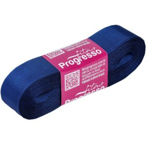 Fita Gorgurão Progresso 22mm nº5 - 10m Cor 215 Azul Marinho - 01 unidade - Rizzo Embalagens