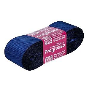 Fita Gorgurão Progresso 38mm nº9 - 10m Cor 215 Azul Marinho - 01 unidade - Rizzo Embalagens