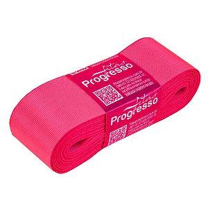 Fita Gorgurão Progresso 38mm nº9 - 10m Cor 279 Rosa Cítrico - 01 unidade - Rizzo Embalagens