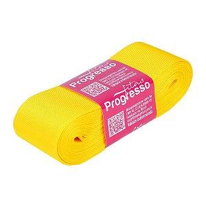 Fita Gorgurão Progresso 38mm nº9 - 10m Cor 763 Amarelo Gema - 01 unidade - Rizzo Embalagens