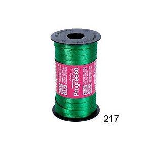 Fita de Cetim Progresso 7mm nº1 - 100m Cor 217 Verde Bandeira - 01 unidade