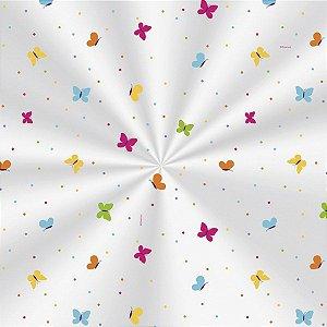 Saco Decorado Borboletas Colors - 20x29cm - 100 unidades - Cromus - Rizzo Embalagens