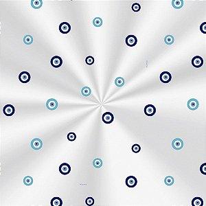 Saco Decorado Olho Grego - 15x22cm - 100 unidades - Cromus - Rizzo Embalagens