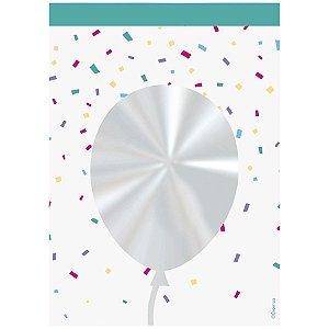 Saco Decorado Registrado Balão - 11x19,5cm - 50 unidades - Cromus - Rizzo Embalagens