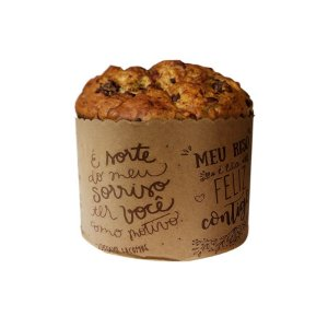 Forma Panetone 250g Frases Lettering - 25 unidades - Rizzo Embalagens