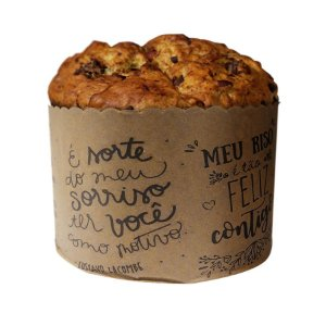 Forma Panetone 500g Frases Lettering - 10 unidades - Rizzo Embalagens