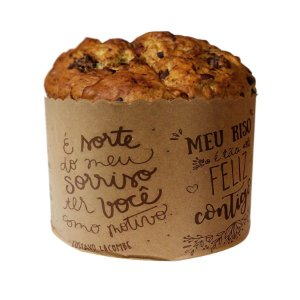 Forma Panetone 500g Frases Lettering - 50 unidades - Rizzo Embalagens