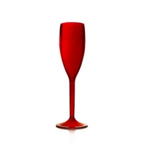 Taça Champanhe Acrílico Vermelha - 01 Unidade - Rizzo Festas