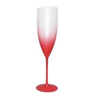 Taça Champanhe Degrade Vermelha - 01 Unidade - Rizzo Festas