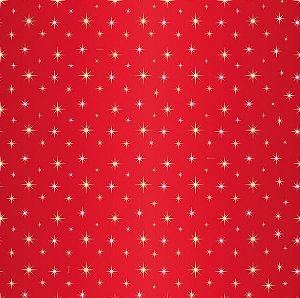 Saco Presente 35x54cm Estrela Guia Vermelho - 10 unidades - Cromus - Rizzo Embalagens