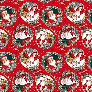 Saco Presente 35x54cm Noel Boas Festas - 10 unidades - Cromus - Rizzo Embalagens