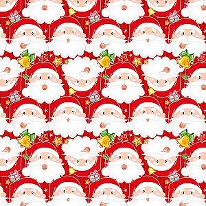 Saco Presente 15x22cm Papai Noel - 10 unidades - Cromus - Rizzo Embalagens