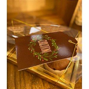 Tag Decorativa Natal Chocotone - 5 unidades - Rizzo
