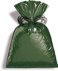 Saco Metalizado Dark Green 15x29cm - 50 unidades - Cromus - Rizzo Embalagens