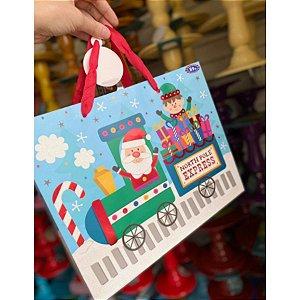 Sacola Decorada Natal 32x26x13 - 01 unidade - Rizzo Embalagens