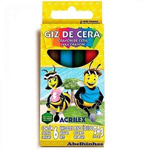 Giz de Cera para Colorir 24g - 06 unidades - Acrilex - Rizzo Embalagens