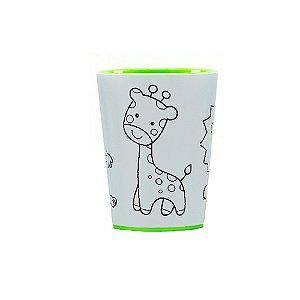 Copo para Colorir Color Cup Floresta - Verde 10cm - 01 unidade - Rizzo Embalagens